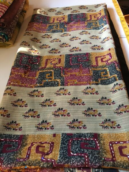 Very Nice Indian Sari Saree Made In India. This Is In Very Good Condition. $15.01