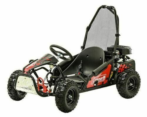 Coleman Powersports 100cc Gas Powered Go Kart Red and Black