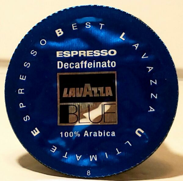 100 Lavazza BLUE Ultimate Expresso Decaf Capsules Exp 04 30 2021 New in Box W3
