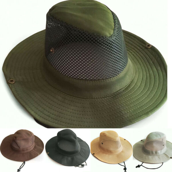 Sun Hats for Women Wide Brim UV Protection Foldable Mesh Boonie Bucket Beach Hat