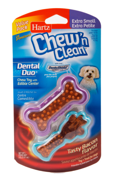 Hartz Chew n Clean Dental Duo Dog Toy Extra Small 2 pack Color May Vary $49.99