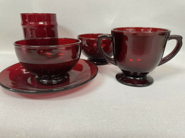 Vintage Ruby Red Dishes $50.00