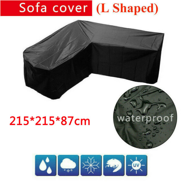 Outdoor Patio Furniture Cover L Shaped Sofa Covers Waterproof Dust Protector US