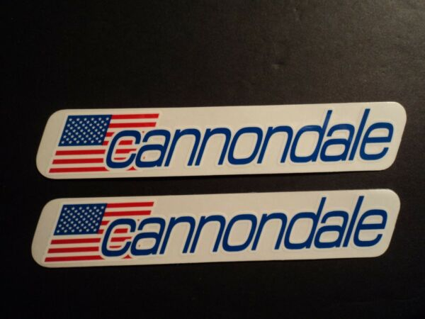 Lot Of 2 Cannondale Bike Bicycle Frame Fork Decals Stickers Mountain Bike Road $4.49