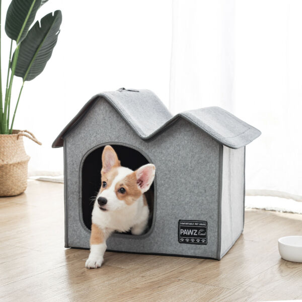 Pet Dog House Kennel Soft Warm Cave Bed Indoor Home Shelter Removable House $29.99