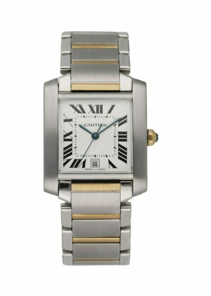 Cartier Tank Francaise 2302 Two Tone Automatic Large Men#x27;s Watch $4999.00