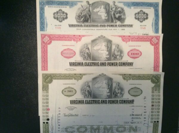 Set Of 3 Virginia Electric and Power Company Vepco $3.99
