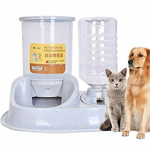 Automatic Dog and Cat Feeder Gravity Water Bowl Food Dispenser for Large Dogs $63.90