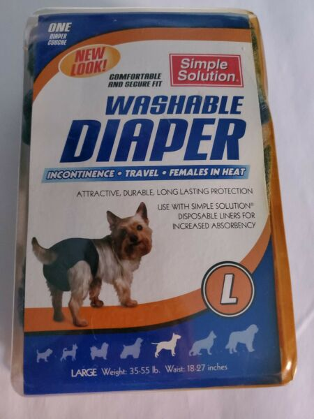 Dog Washable Diaper Simple Solution L 35 55 lbs Waist 28 27 Inches New $9.99