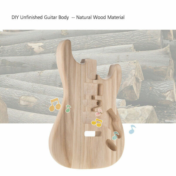 ST01 TM Unfinished Handcrafted Guitar Body Candlenut Wood Replacement Parts DIY $42.99