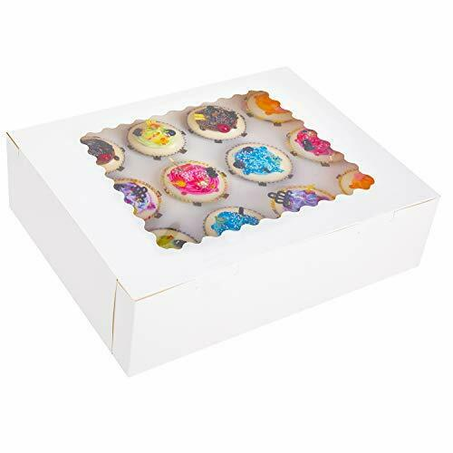 Iduola Cupcake Boxes 12 Count with Inserts amp; Window 15 Packs White Large Ba...