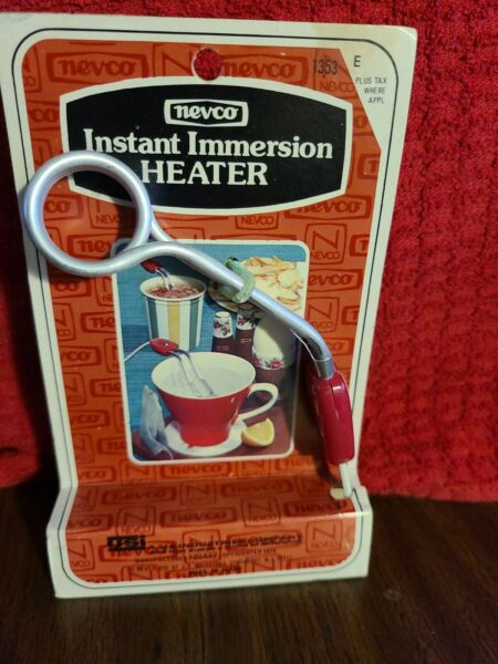 Vintage NEVCO Instant Immersion Heater Red Silver New Old Stock Gadget JAPAN $10.00