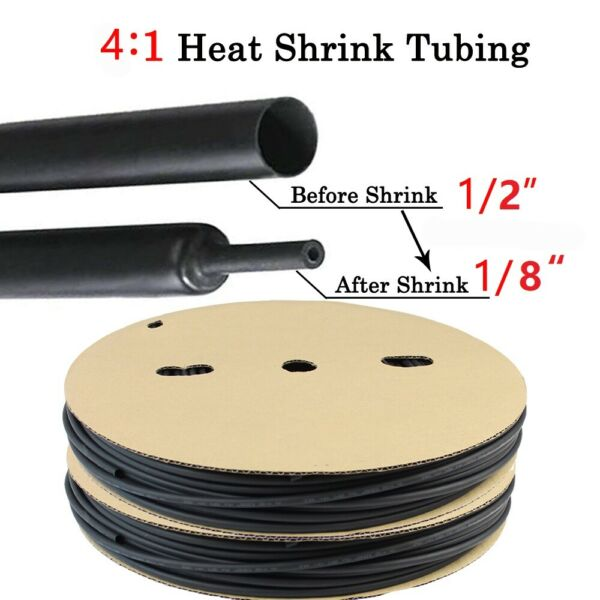 Flame Retardant 1 2quot; Heat Shrink Tubing 6FT Adhesive Liner Electrical Insulation $10.99