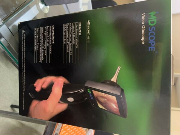 MD SCOPE VIDEO OTOSCOPE MS101 INSTANTANEOUS VIEWING BODY SIZE 2 3 8 INCH X 8 IN