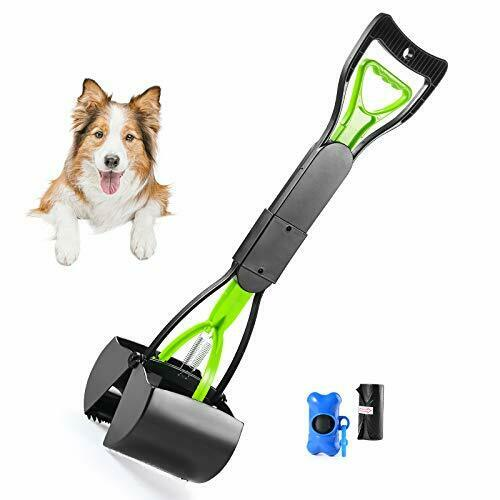 Pet Pooper Scooper For Dogs Cats With Long Handle Foldable Dog Poop Waste Pick $14.20