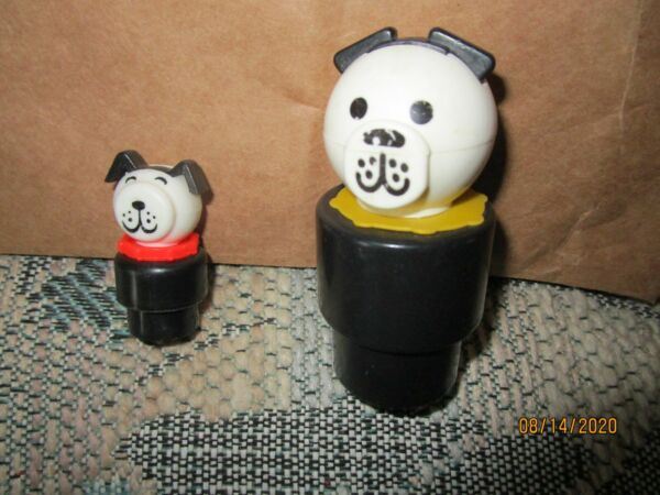 FISHER PRICE=CHUNKY LITTLE PEOPLE=1989 quot;DADDYquot; DOG amp; SON $6.99