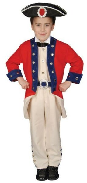 Child#x27;s Historical Colonial Soldier Dress Up Costume NEW Size Small 4 6 Years $27.99