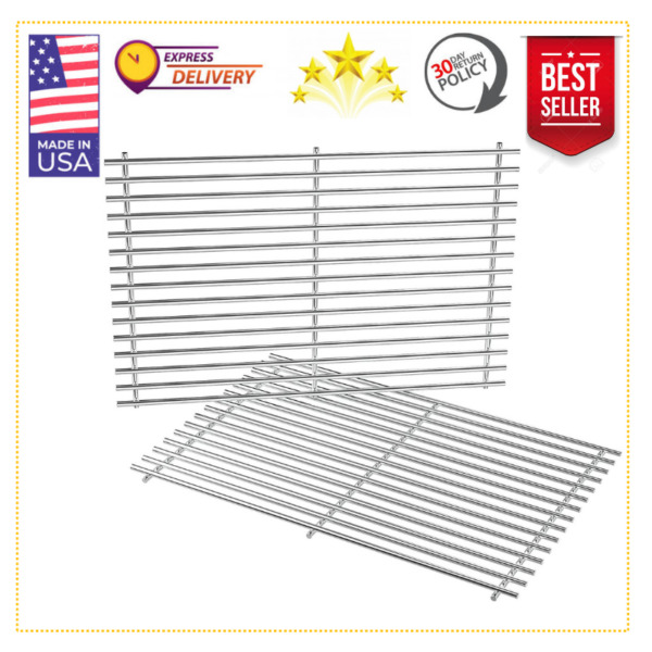 19.5 Stainless Steel Cooking Grates Grid for Weber Genesis 300 2007 2016 2pcs