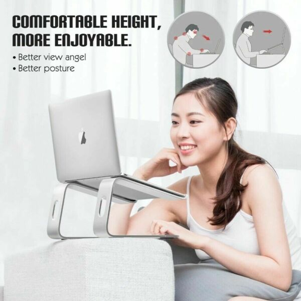 Laptop aluminum stand Ergonomic stand , easy to carry Suitable for 10 17 laptop $15.89