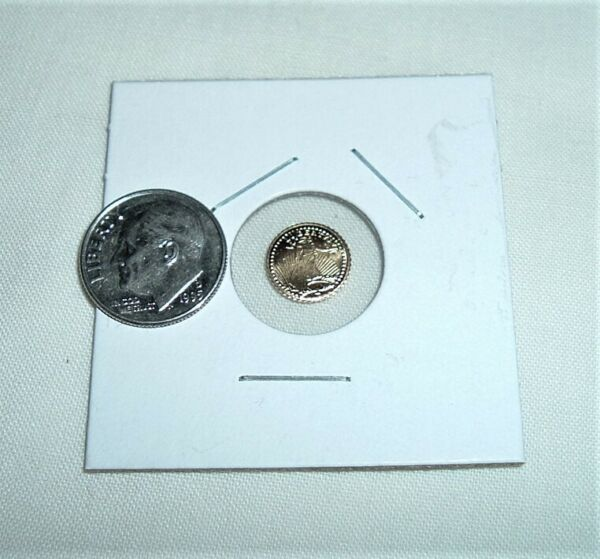 3 FOR 1 PRICE 1907 MINI ST GAUDENS 1 2 GRAM COINS BUYING DISCOUNT PLUS FREE SHIP $9.99