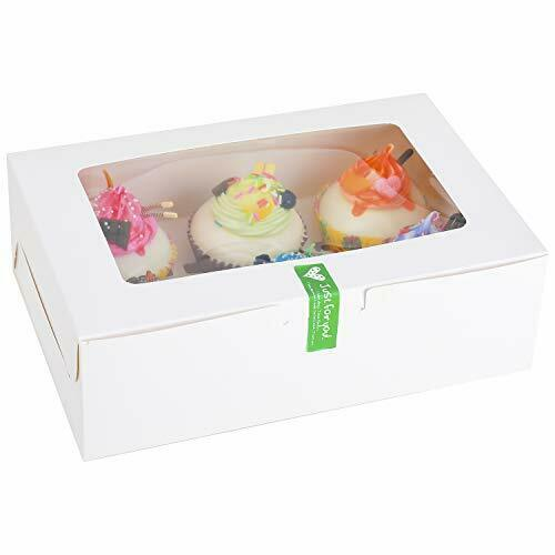 Iduola 30 Set Cupcake Boxes 6 Count with Inserts and Window 9.4#x27;#x27; x 6.3#x27;#x27; x 3...