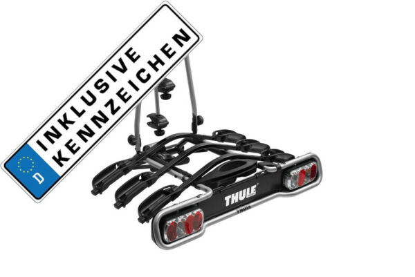Thule Rack Carrier Tow Trailer Hitch Euroride 942 3 Bicycles 45kg Number Plate $557.38
