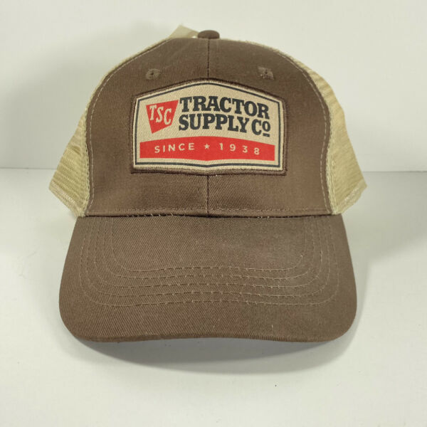 Tractor Supply Co Truckers Cap Hat Strap Back Brown Tan New With Tag $19.99