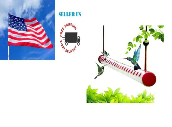 Hummingbird Feeder Tubes With 10 Feeding Holes amp; Rope Holder Used Outdoor 15.7#x27;#x27; $18.99