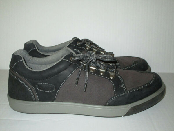 KEEN MEN#x27;S SHOES SNEAKERS BLACK GRAY SIZE 13 USED OUTDOOR LOW TOP HIKING $49.99