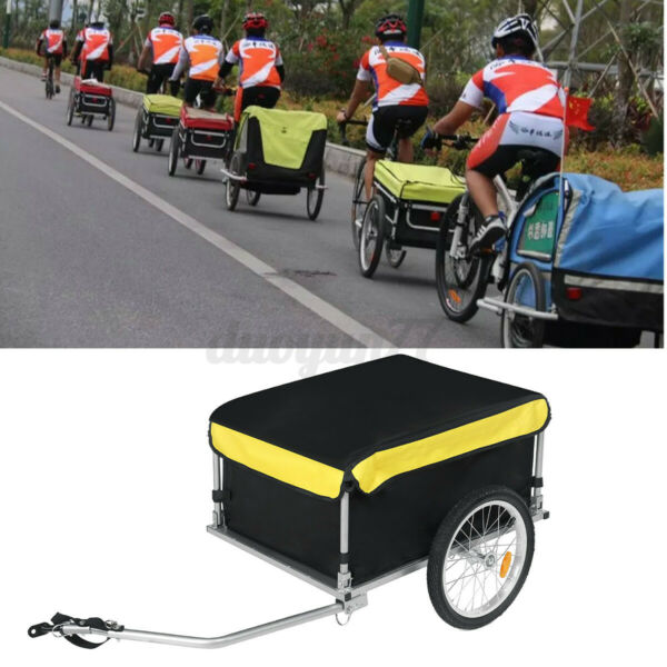 Bicycle Bike Cargo Trailer Suitcase Luggage Storage Large Cart Carrier Removable $96.99