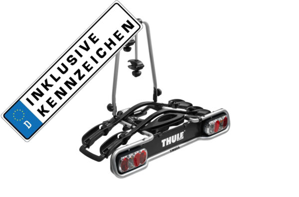Thule Rack Carrier Tow Trailer Hitch Euroride 940 2 Bicycles 36kg Number Plate $354.49