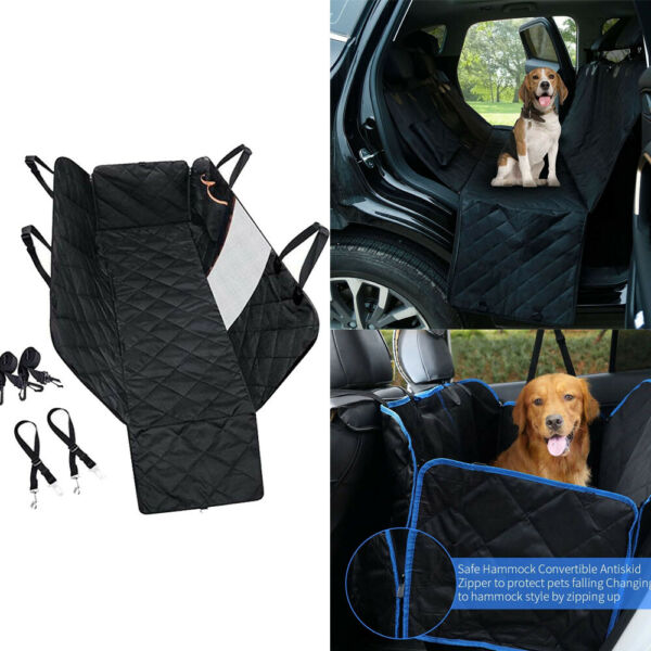 Heavy Duty Dog Back Seat Cover Protector Seat Pet Hammock Back with Mesh Window $25.19
