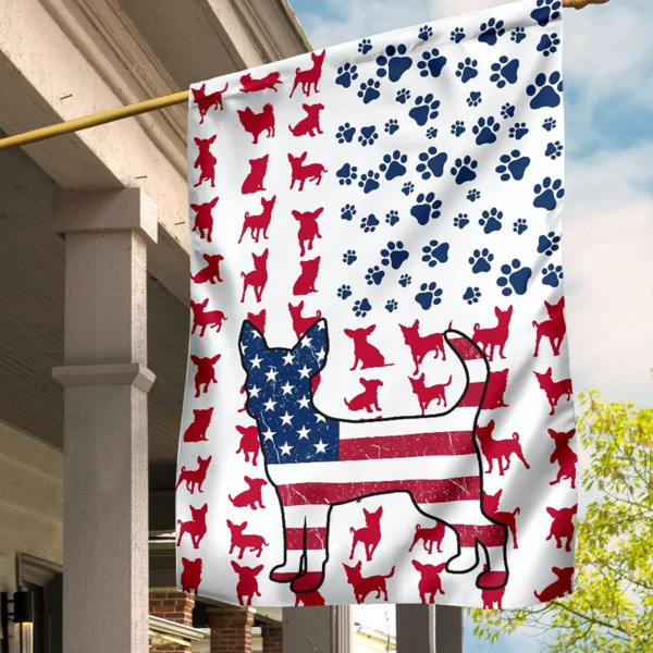 Chihuahua Lovers Dog America Decoration House And Garden Flag $15.99