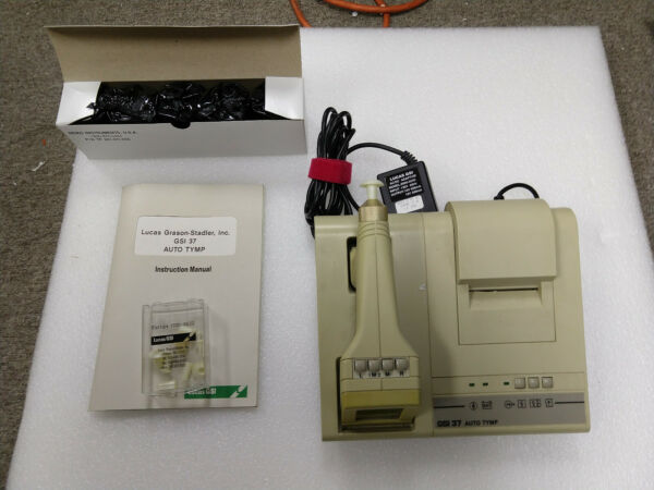 GSI 37 Grason Stadler Auto Tympanometer NEW BATTERY CALIBRATED WITH MANUAL