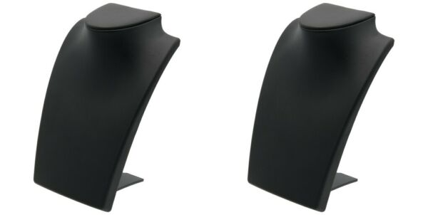 Black Leather Bust with Retractable Stand Jewelry Display 8 1 4quot; Tall Pack of 2 $19.19