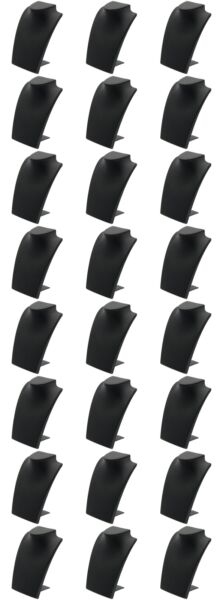 Black Leather Bust with Retractable Stand Jewelry Display 8 1 4quot; Tall Pack of 24 $87.64