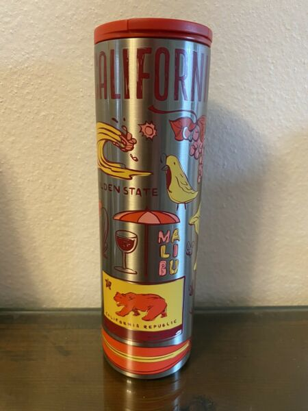 """Starbucks Stainless Steel Tumbler 2019 California """"Been There Seriesquot; 16oz NEW"""