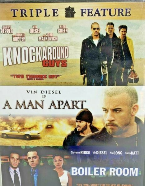 Triple Feature A Man Apart Boiler Room Knockaround Guys DVD 2006 New Sealed $22.24
