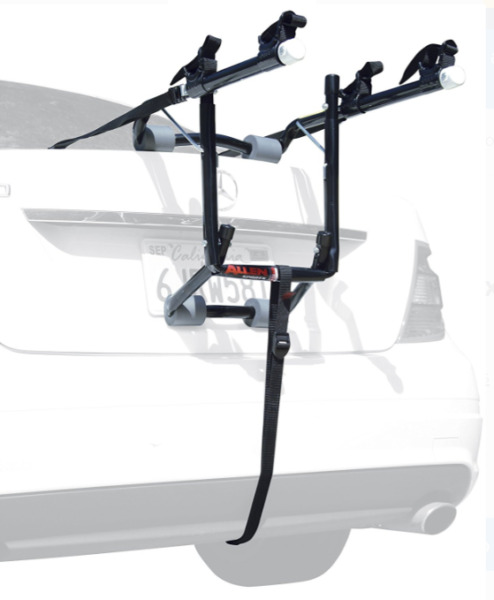Allen Sports Deluxe 2 Bicycle Trunk Mounted Bike Rack Carrier 102DB $43.93