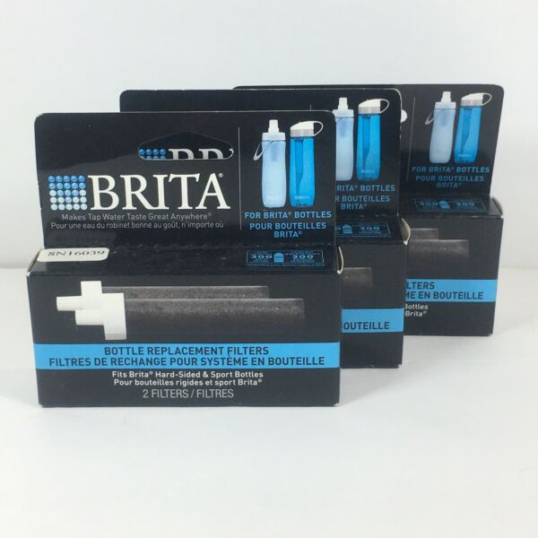 3 Packs of Brita Water Bottle Replacement Filters For Hard Sided amp; Sport Bottles