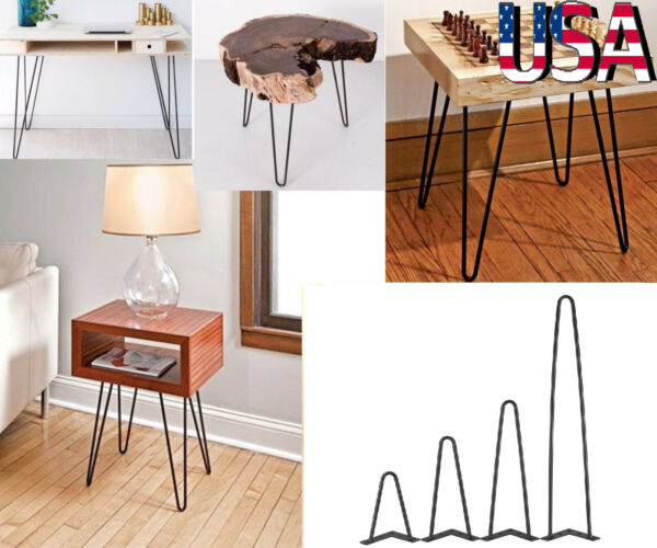 8quot; 12quot; 16quot; 28quot; Hairpin Leg Metal Heavy Duty Furniture Leg Coffee Table Sets of 4