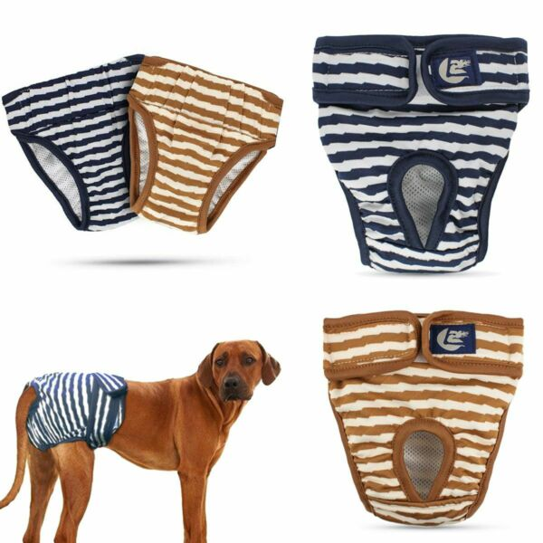 New Male Female Dog Diapers Reusable Wraps Pet Puppy Nappy Underwear Size S 2XL $9.29