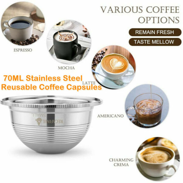 Stainless Steel Coffee Capsule Pod Cup Filter Set For Nespresso Coffee Machine