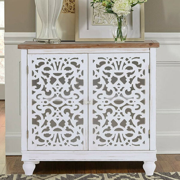 Buffet Sideboard Accent Cabinet with Storage Kitchen Bar Cupboard Table 2 Doors