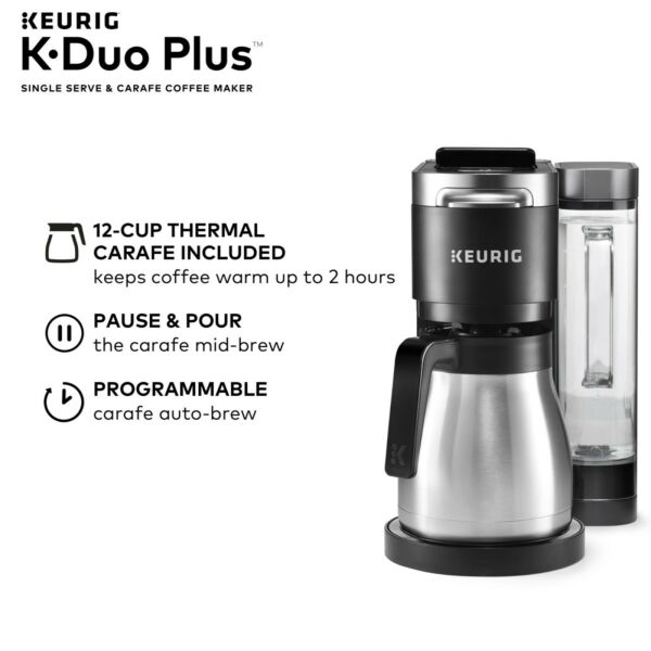 New Keurig K Duo Plus Single Serve Compatible Coffee Maker with K Cup Pods