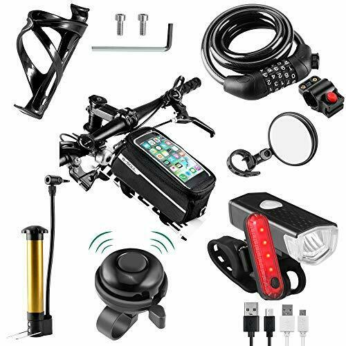 8 Pack Bicycle Accessories Bike Light Set USB Rechargeable 1 Bike Water Bottl... $48.09