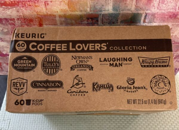 Keurig Coffee Lovers#x27; Variety Collection K Cup Sampler 60 Pods best by 08 29 21