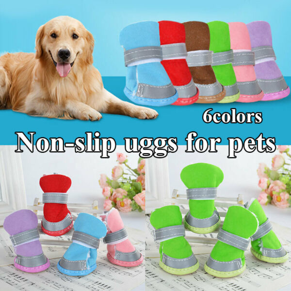 Warm Winter Pet Dog Boots Puppy Shoes Protective Anti slip Shoes for Small Dog $5.87