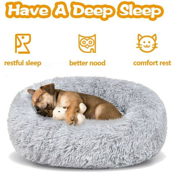 Dog Beds Large Dogs Large Medium Small Dog Long Plush Calming Bed S M L XL XXL $27.94