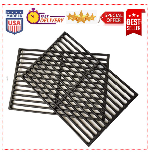 17.25quot; Cast Iron Grill Grates Replacement for Weber Spirit 300 Series 2 pack HOT